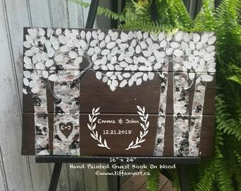 Wedding guest book, Wedding guestbook sign, wedding guest book alternative, rustic guest book, personalized wedding guest book, wedding sign