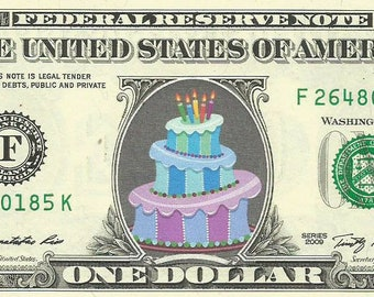 Dollar Bill {In Color} King of Funk REAL Money! Prince