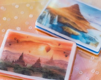 Handmade soap with Exclusive Watercolor Paintings