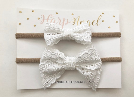 Sisters bow set clip headband alligator clip newborn headband girls bow