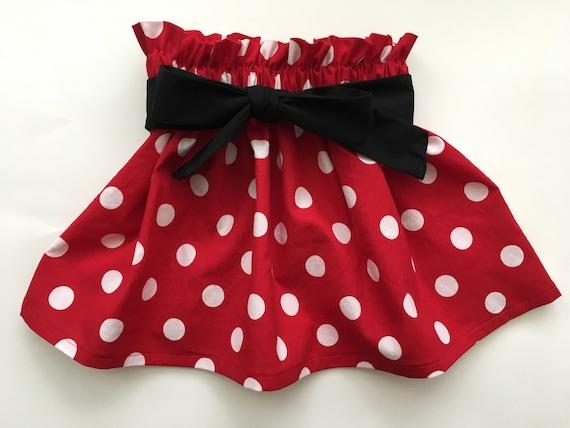 2811ba18e Red & White Polka Dot Skirt Minnie Mouse Birthday Party Skirt | Etsy