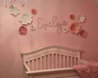 Wooden letters, Nursery Decor, Baby name signs, Custom name gift, Name plaque, Cursive name sign, baby gift