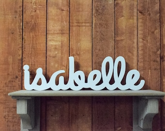 02957a5113e1 Isabelle Baby Name Wooden Sign - Nursery Decor - Baby name signs for baby  showers and home decor