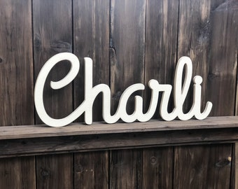 Wooden letters, Wooden baby name, Cursive baby name, Nursery letters, Over the crib name, Nursery decor, Baby name sign, Baby shower gift