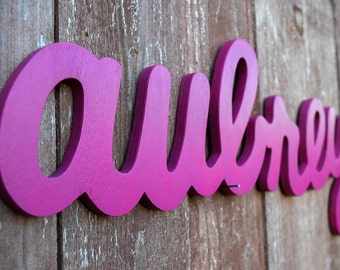 Aubrey Large Wooden Name Sign - Personalized wooden names