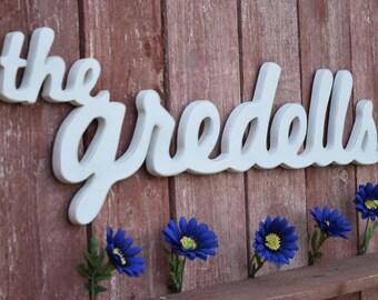 Family Name Custom - Wooden Last Name, Home Decor, Wedding Gift