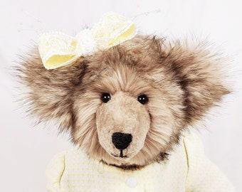 OOAK Teddy Bear, Handmade Teddy Bear, Jointed Teddy Bear, Stuffed Teddy Bear, Dressed Teddy Bear