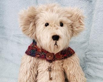 Beige Teddy Bear, OOAK Teddy Bear, Sunshine Teddy Bear, Boy Teddy Bear, Baby Gift
