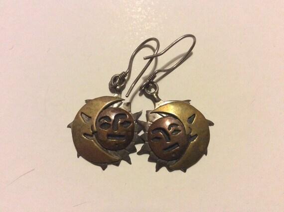 Sun Moon & Star Earrings