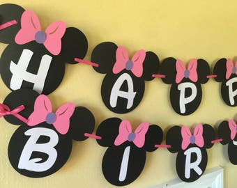 Minnie Mouse Birthday Banner Party Decorations