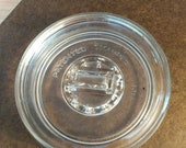 Vintage Clear Glass Cigarette, Cigar Apothecary Jar Cover, Ashtray Patented December 7, 1915