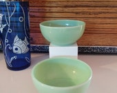 Vintage Set of 2 Jadeite Fire King 5 quot Cereal, Chilli Bowls Oven Ware