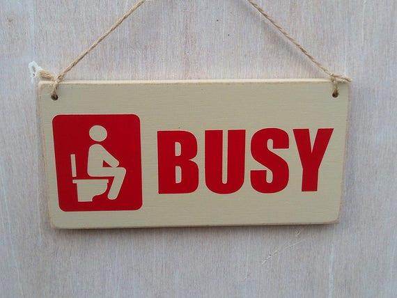 Besetzt Frei Wc Schild Mit Symbol Doppelseitig Toilette Etsy