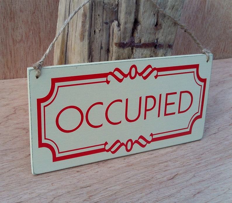 Swell Occupied Vacant Sign Double Sided Airbnb Sign Toilet Occupied Sign Toilet Vacant Sign Bathroom Occupied Sign Bathroom Vacant Home Interior And Landscaping Elinuenasavecom