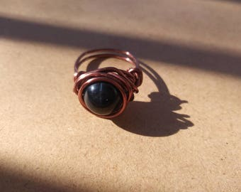 Blue tiger eye ring size 6