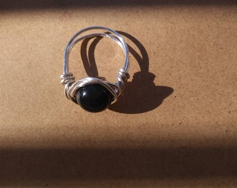 Blue tiger eye ring size 5.5