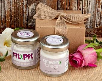 Fit Pit Love & Green Cream Love aphrodisiac 100% natural organic deodorant and body cream Gift Set 50ml. Made in UK