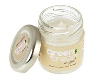 100% natural organic day cream - Green Cream Original moisturiser 25ml. Intensive dry skin treatment. Plastic free, vegan. Made in UK