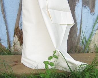 Organic Cotton Muslin Fabric, Natural Creamy White Color, Dyeable, Sold by the Yard