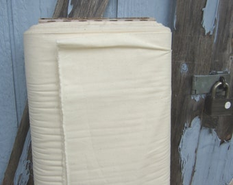 Unbleached Muslin Fabric, Cotton, Natural Color, Sold by the Yard