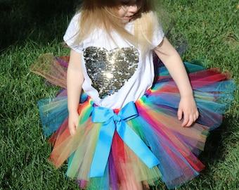 d7428ea96b Rainbow Tutu Skirt - newborn baby girl toddler child 6 12 24 months 1 2 3 4  5 6 7 8 years