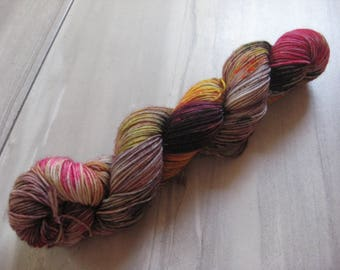 4 I Mean 5 I Mean Fire   -  50 gram skein, 75/25 sock yarn,