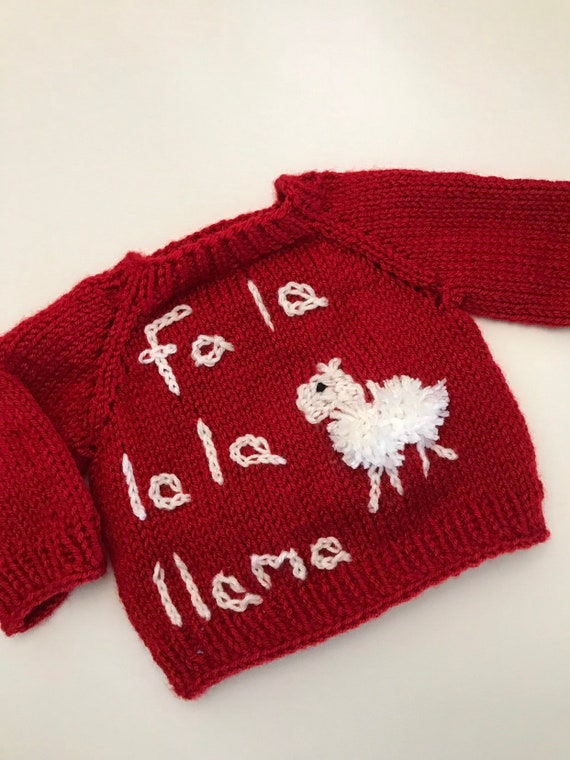 Llama Christmas Sweater.Llama Christmas Sweater For Baby Toddler Or Kids Ugly Christmas Sweater Fa La La La Llama