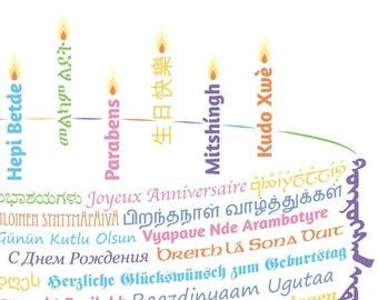 DIY Printable Happy Birthday Card Templates - Design 2
