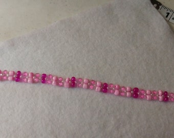 Pink bracelet with Toggle Clasp