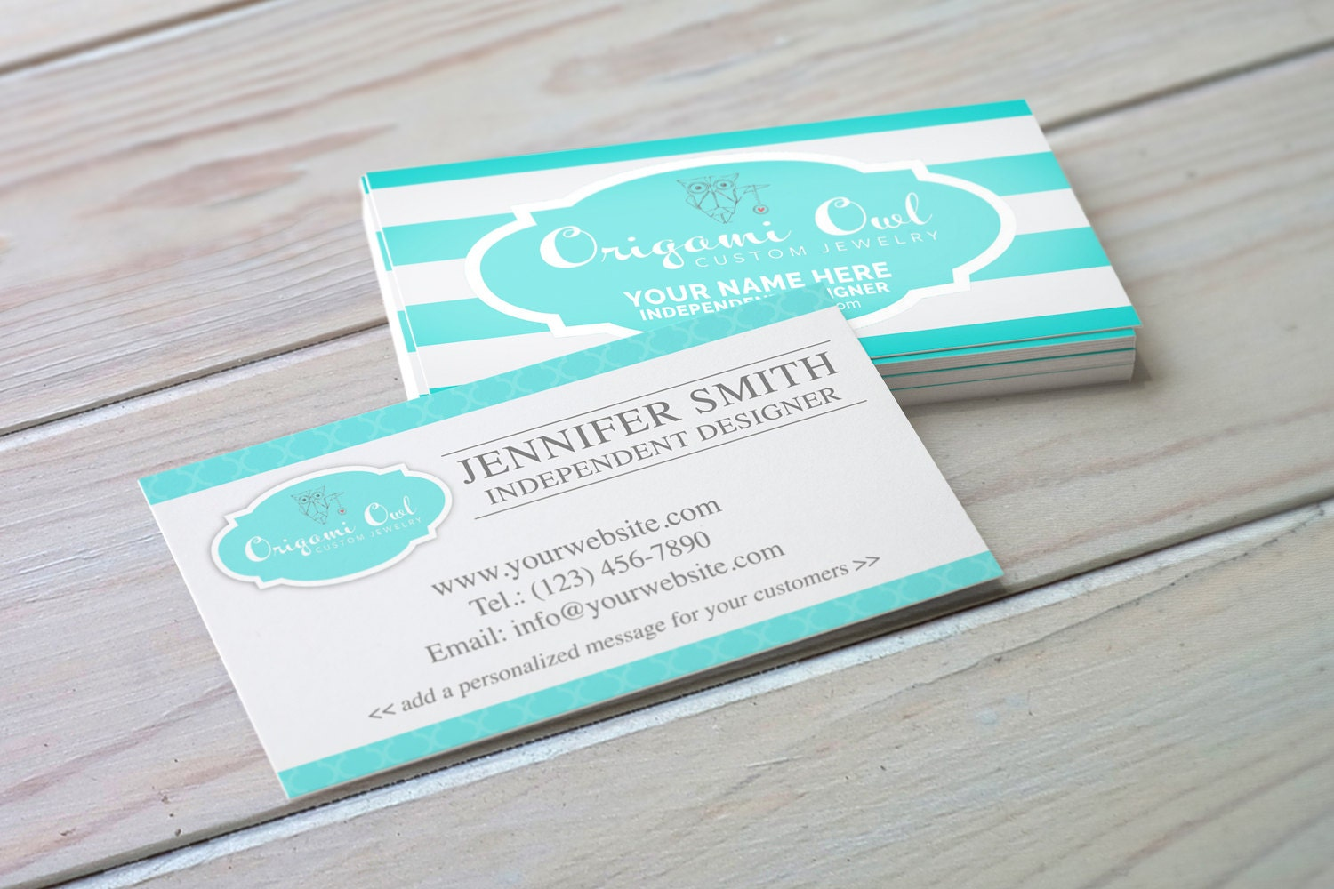Origami Owl Inspired Business Card Digital Download Etsy