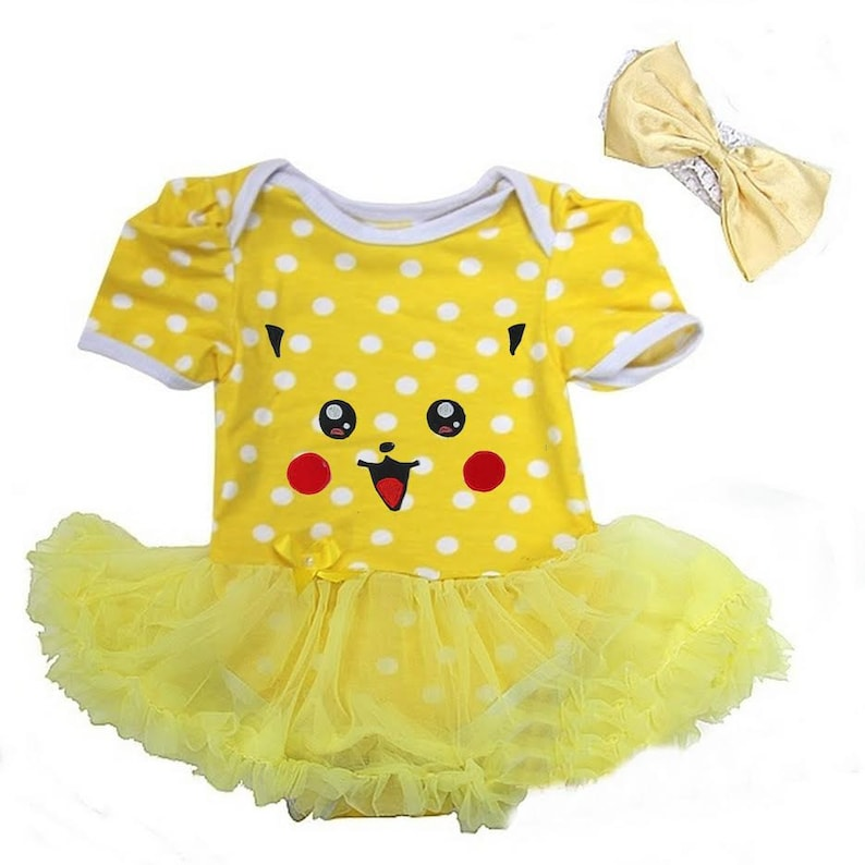 aaebead4 Pikachu Inspired Tutu Dress With Headband Newborn To 18 Months | Etsy