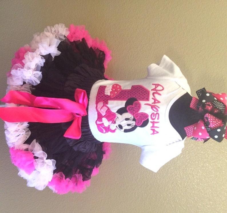 Baby Hot Pink Leopard Pettiskirt Hot Pink Top Set 3-12M