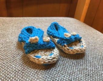 Handmade crocheted Baby Bootie Sandals