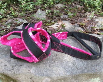 Dog weight pull harness competition resistance training conditioning Various sizes MOLTEN PINK