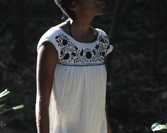 Tulum Raw Cotton V-Back Tunic