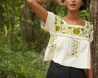 Natural Cotton Crop Top