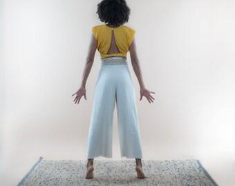 Tzotzil Wide Linen + Hemp Pants