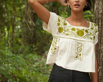 Earthy Cotton Crop Tops
