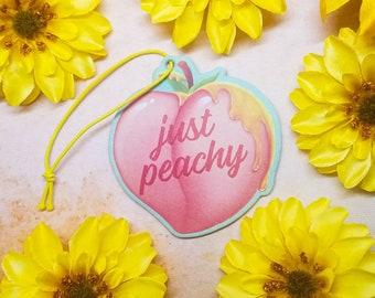Peach Air Freshener 8cm Honey Peach Scented