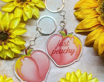 Just Peachy Acrylic and Pillow Charms