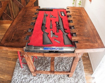 Merveilleux Counter Height   Secret Compartment Table For Storing Guns (MADE TO ORDER)