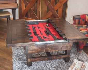 hidden compartment furniture etsy rh etsy com hidden compartment coffee tables Wooden Coffee Table with Hidden Compartment