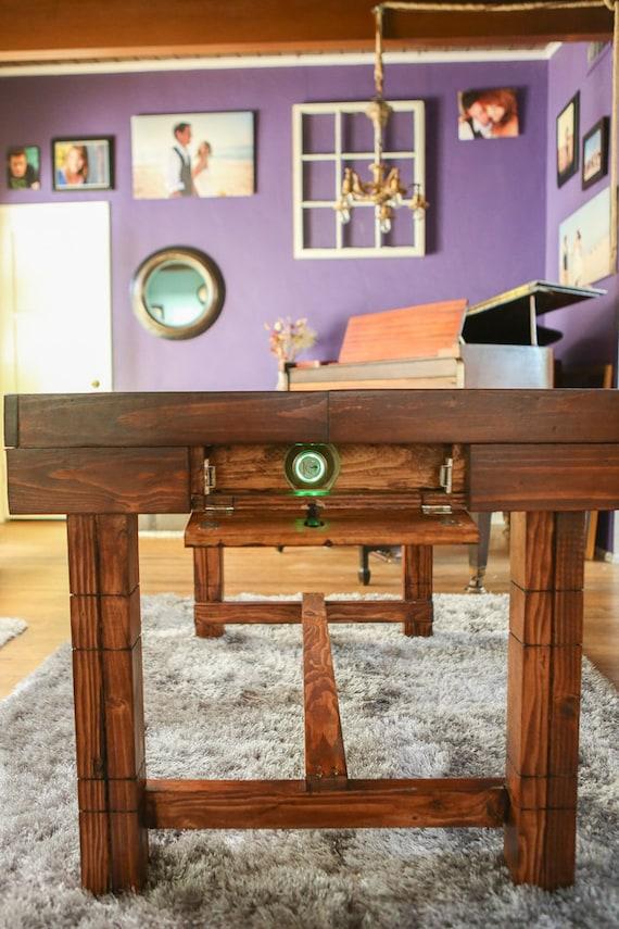 Altura del comedor mesa de compartimento secreto para | Etsy