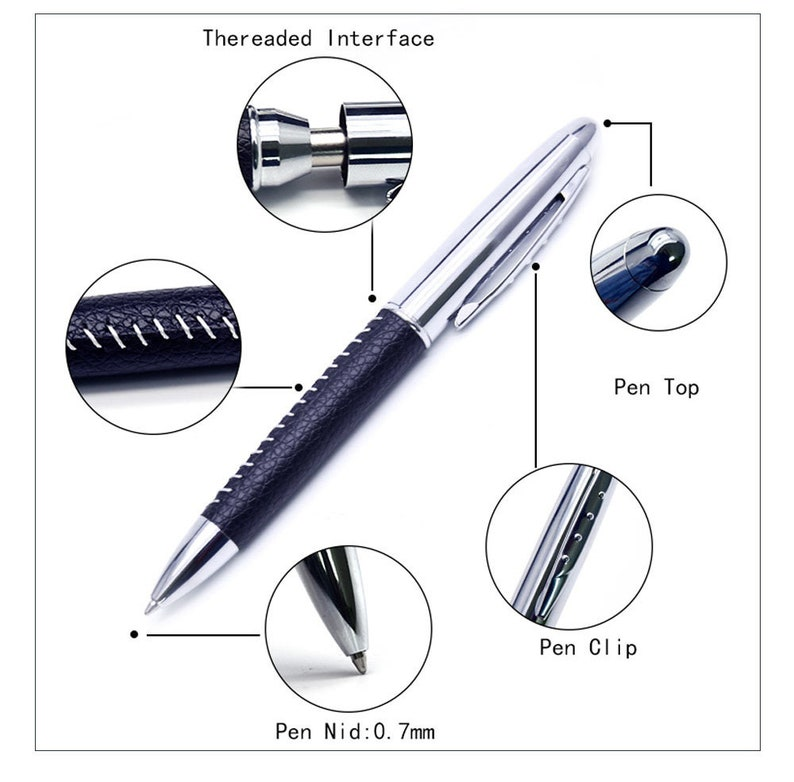 Personlized Free Engraving stainless steel highend Ball Pen Holiday Business Gift with Engraved Free Metal Pen Box