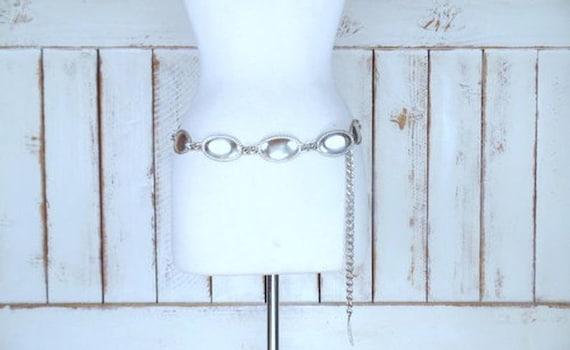 Vintage Calvin Klein silver metal link chain state