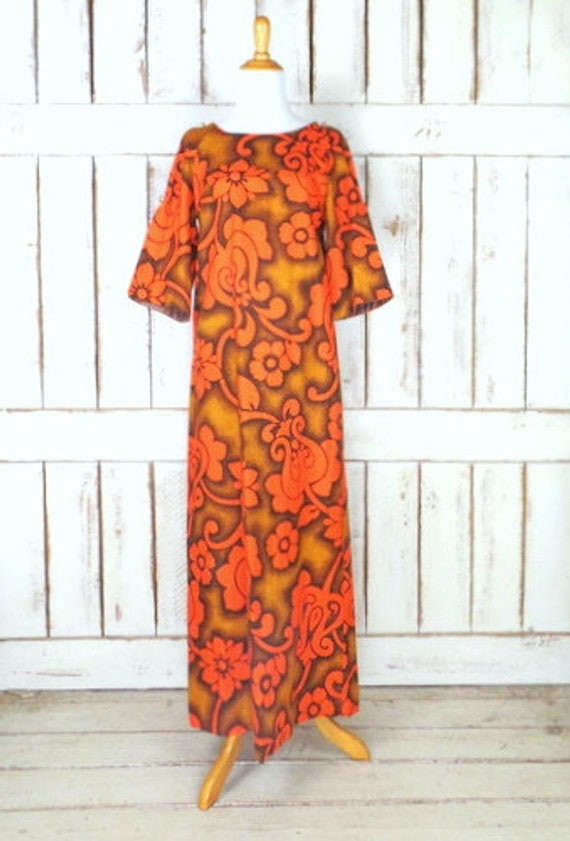 Vintage 60s Liberty House orange/brown psychedelic