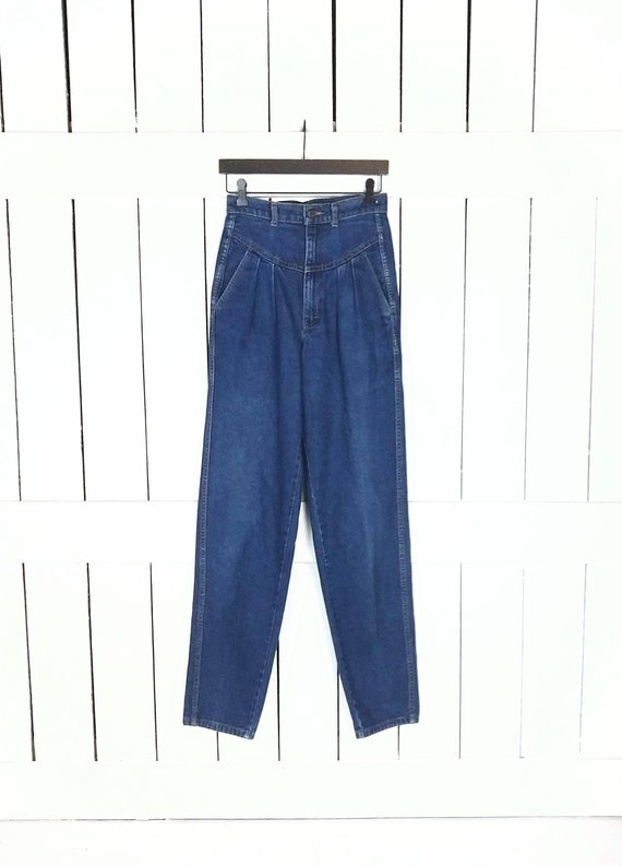 Vintage Ronica high waisted pleated tapered leg bl