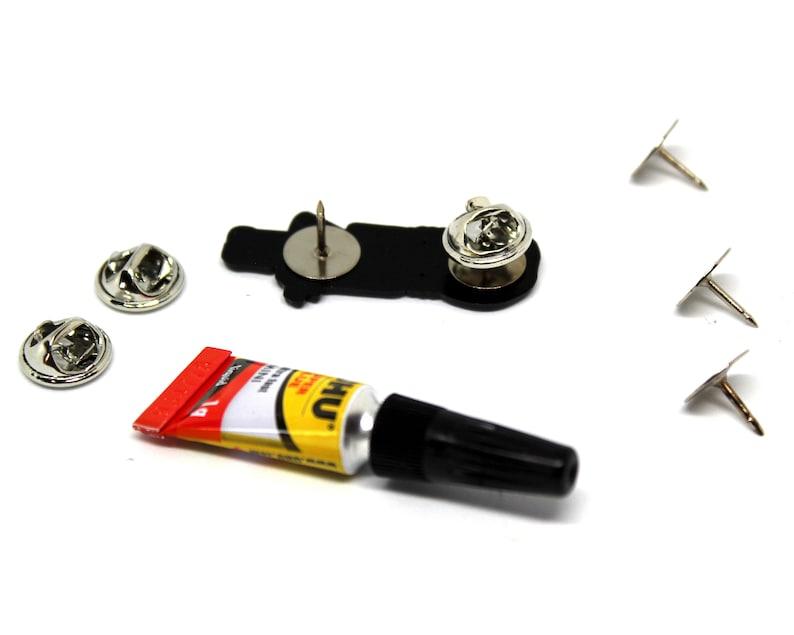 flatback no pin posts. Wednesday DIY enamel pin