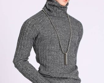 MSD_Turtleneck Sweater (Charcoal)