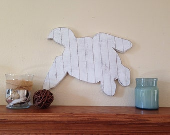 Wooden Turtle, Rustic White Pallet Turtle, sea turtle, surf decor, turtle sign, pallet beach decor